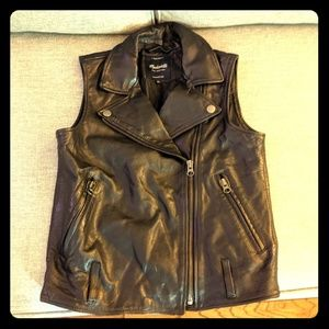 Madewell leather jacket size S